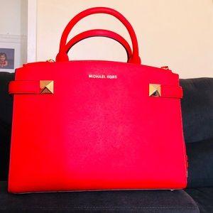 Michael Kors satchel in color sangria